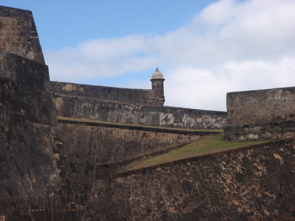 A view of the Fort Castillo San Cristobal, Old San Jaun Puerto Rico