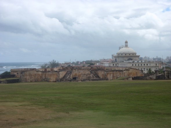 Photo From Fort San Cristobal off the upper gun deck looking into Old San Juan City