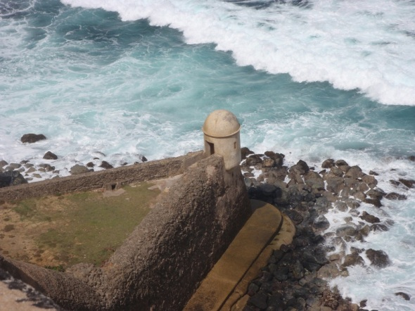 The furthest point of the Fort that looked out over the San Juan Harbor.