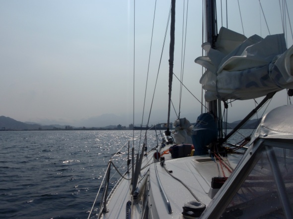 Sailing into Santa Marta, Columbia South America