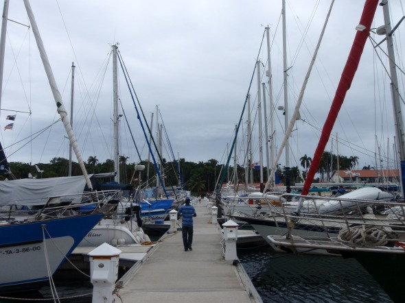 Our Marina, Kinda nice to see all sailboats and only one motorboat on our dock!