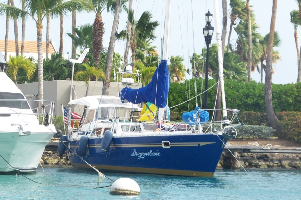Better Picture of our docked boat Aruba