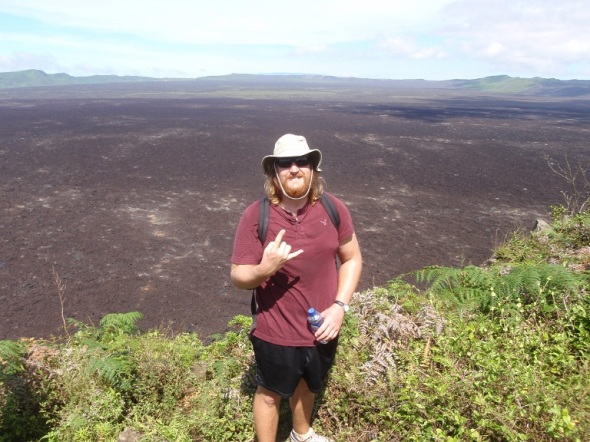 Standing next to the creator of the last volcano eruption in 2005