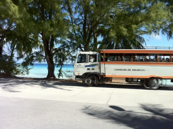 Well this is the Fakarava school bus and public bus as well.