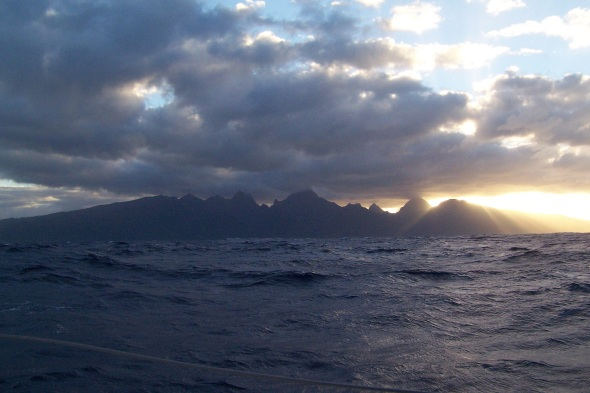 The clouds tried to snuff out the sun but it fought through the clouds and ended up being a great day in Tahiti!