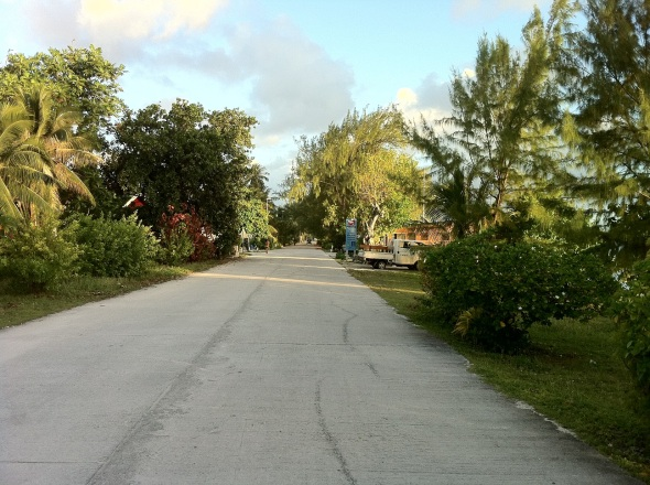 After we set the anchor we took the dinghy in and walked onto the main road or I should say the only road on Fakarava.