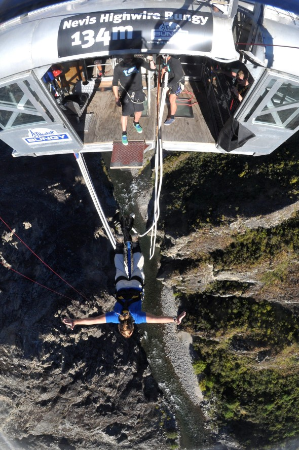 The worlds third biggest bungy jump by 134 meters or 440 feet high called the Nevis.